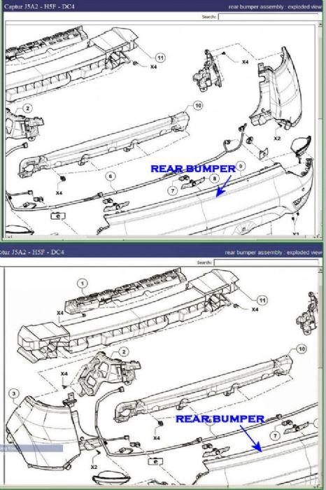 Remove Captur Rear Bumper